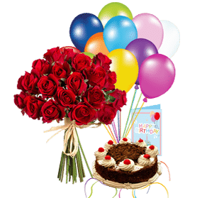 Birthday Blast Flowers & Cake Delivery Services in Lahore | Sendflowers.pk