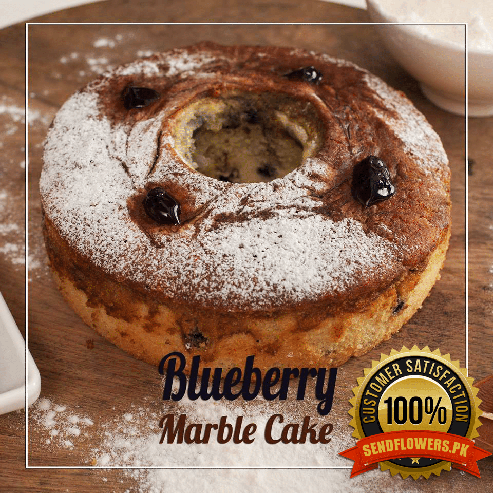 Blueberry Marble Cake - Online Flowers Delivery - Sendflowers.pk