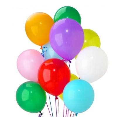 24 Plain Multi Color Balloons - SendFlowers.pk