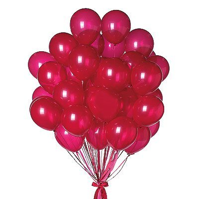 24 Plain Red Balloons - sendflowers.pk
