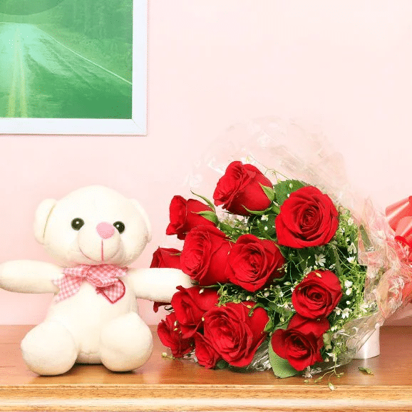 Cuddly Roses Combo - Send Online Flowers to Islamabad
