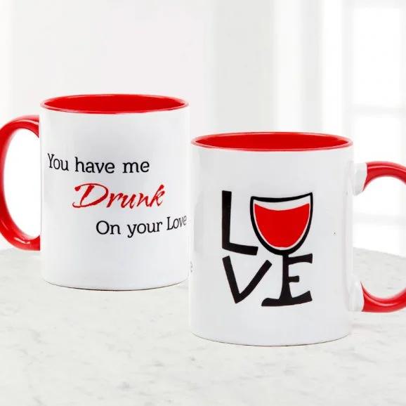 Drunk On Love Mug - Send Valentine's Mugs Lahore