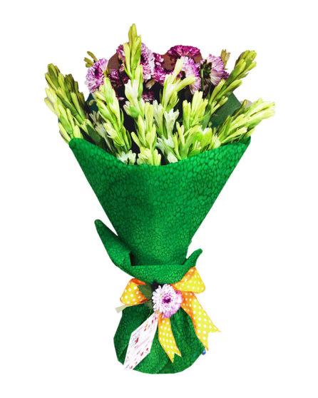 Fresh Green Bouquet Sendflowers To Pakistan