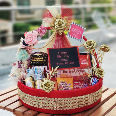 Grand Luxury Love Basket I Gift Basket For Occasion I SendFlowers.pk