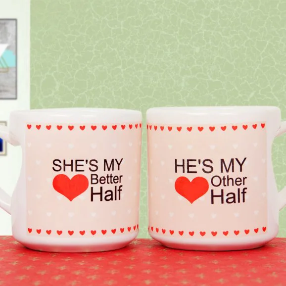He And She Couple Mug - Send Valentine's Mugs Lahore