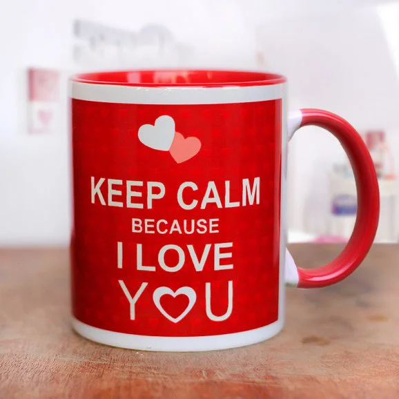 Keep Calm And Love Mug - Send Valentine's Mugs Lahore