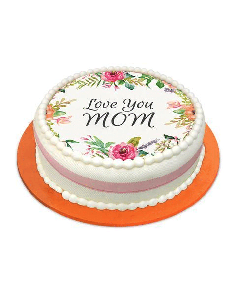 LOVE YOU MOM CAKE - Send Mother's Day Cake to Karachi