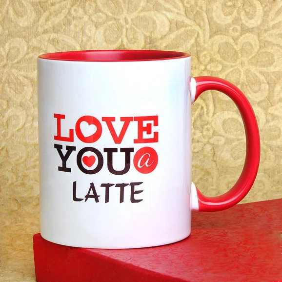 Love You A Latte Mug - Send Valentine's Mugs Lahore