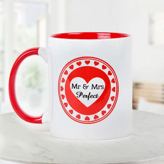 Mr & Mrs Perfect Mug - Send Anniversay Mugs Lahore
