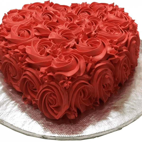 ROSE HEART CAKE 3LBS - Online Cake Delivery in Karachi