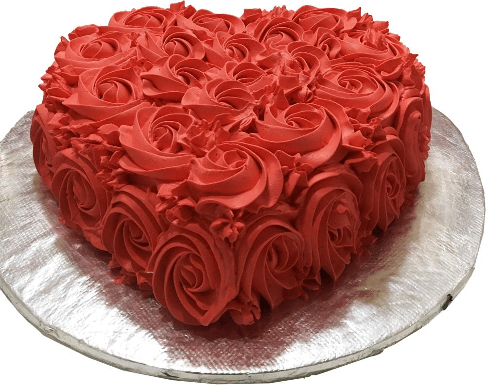 ROSE HEART CAKE 4LBS | Online Cake Delivery - SendFlowers.pk