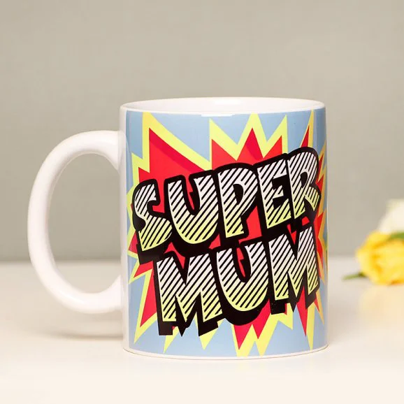 Super Mum Love - Send Printed Mothers day Mugs