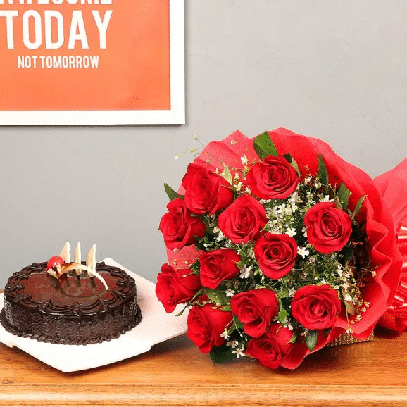 Sweet Sin Combo - Online Flowers Delivery in Lahore