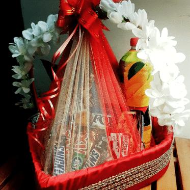 Sweetest Chocos Heart Basket