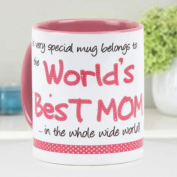 World's Best Mom Mug - send printed mothers day mugs