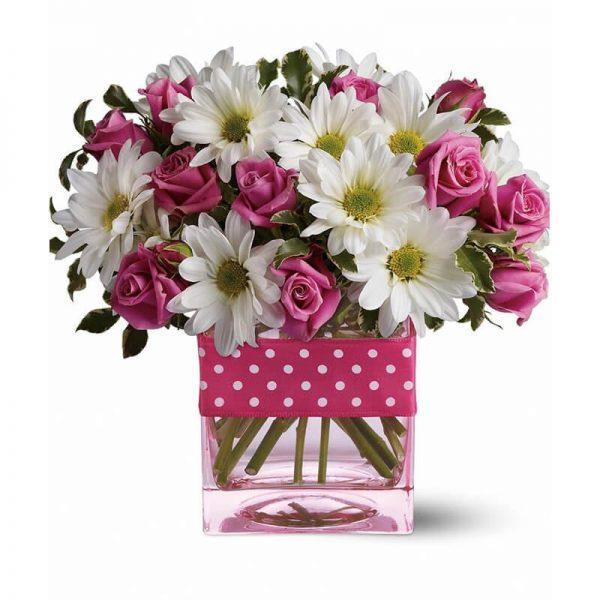 Pink Roses & Gerberas SendFlowers To Pakistan
