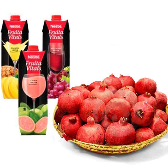 Pomegranate Basket with Fresh Juices - send online fruit basket in Pakistan