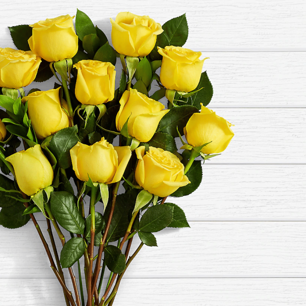 Long Stem Yellow Roses - SendFlowers.pk