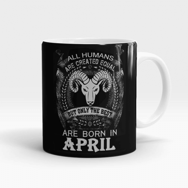 Aries Best Born In April Mug White - SendFlowers.pk