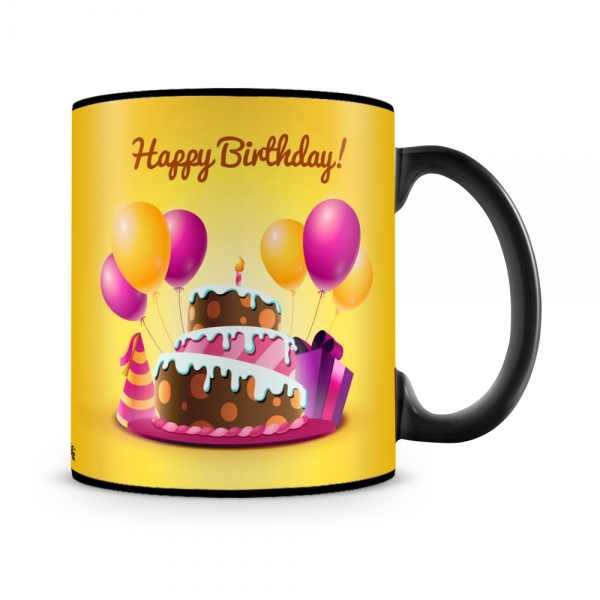 Birthday Cake Mug Black - SendFlowers.pk