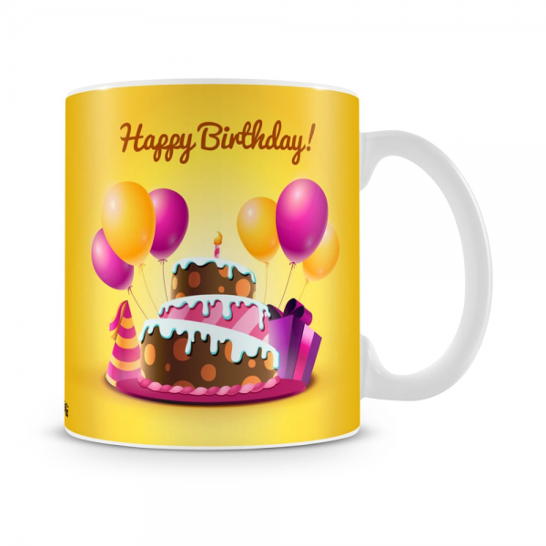 Birthday Cake Mug White - SendFlowers.pk