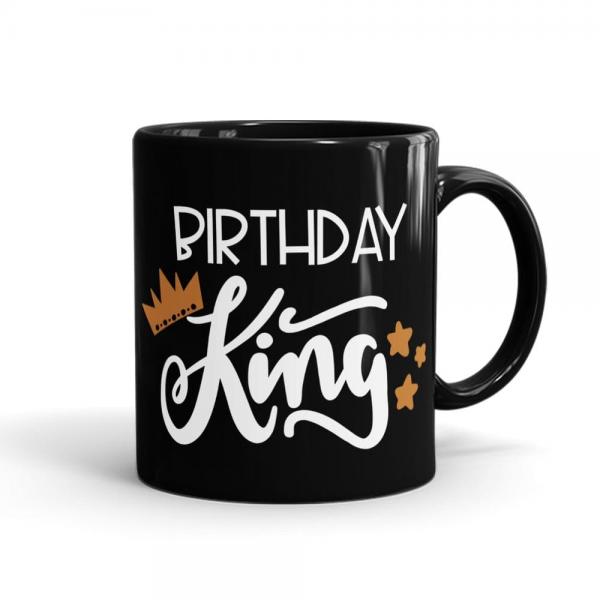 Birthday King Mug Black - SendFlowrs.pk