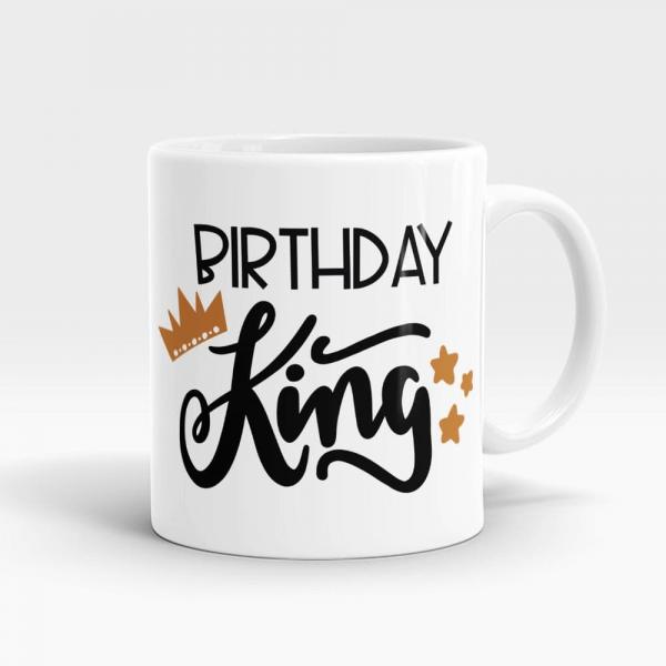 Birthday King Mug White - SendFlowrs.pk