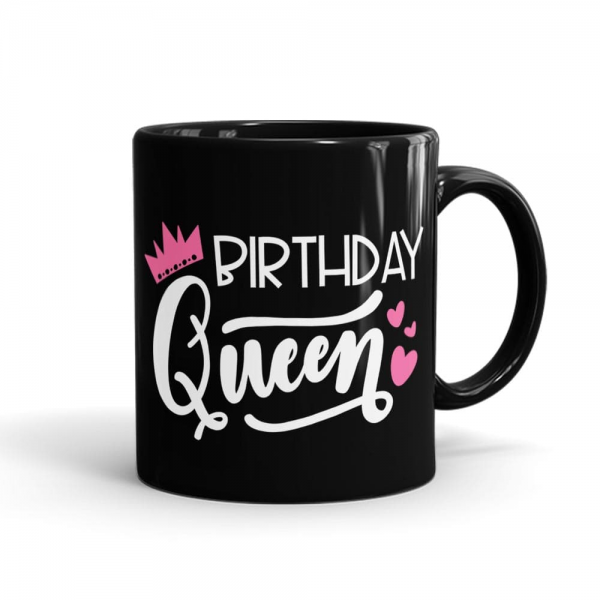Birthday Queen Mug Black - SendFlowers.pk