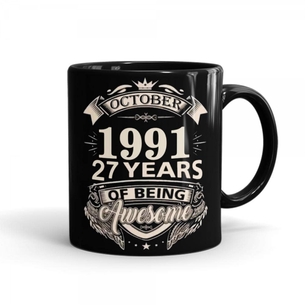 Birthday Year Personalized Mug Black - SendFlowers.pk