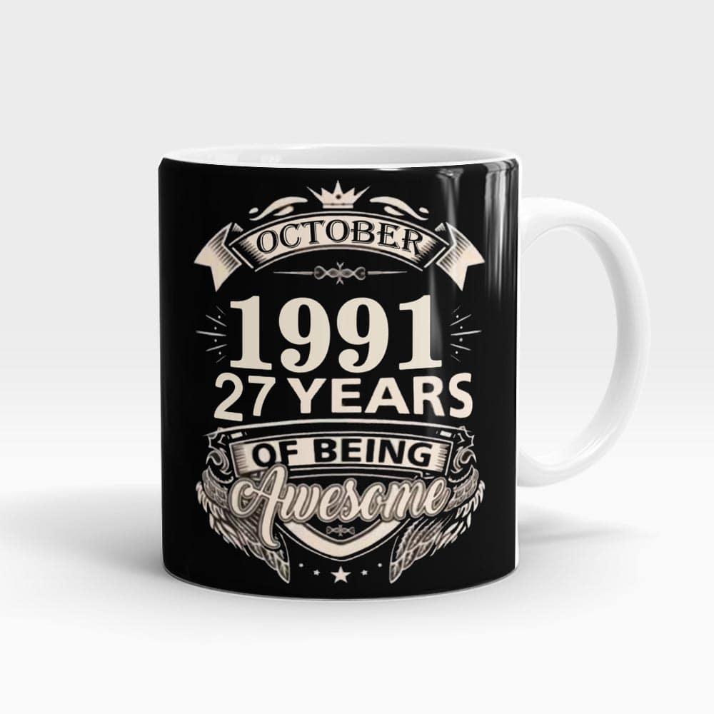 Birthday Year Personalized Mug White - SendFlowers.pk