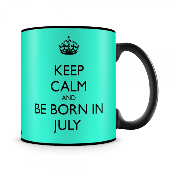 Born In July Mug Black - SendFlowers.pk