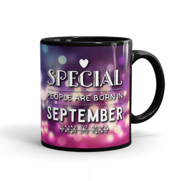 """This Born In September Mug Contains:One printed ceramic mug Size: Height 4"""" & Width 3"""" (350ml)Mug color may vary as per availabilitySame day delivery of mug is not availableOrder must be placed before 24 hoursThis Mug gift delivery is available only for LahorePrinting color & design may vary a little bit.Magic Mug Color is Only BlackThe date of delivery is an estimate as the product is dispatched using the services of our courier partners, Thus, there's a possibility that your gift may be delivered a day prior or a day after the chosen date of delivery.Mug delivery is available in Lahore only by SendFlowers.pk.If specific color mug not available, we'll add alternate as per our substitution policy*"""