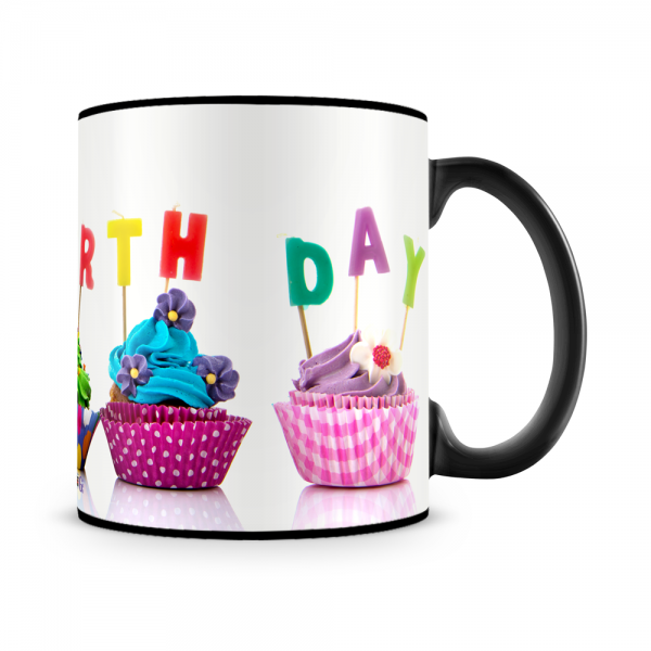 Cupcake Birthday Mug Black - SendFlowers.pk