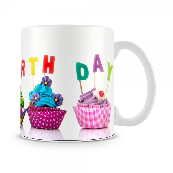 Cupcake Birthday Mug White - SendFlowers.pk
