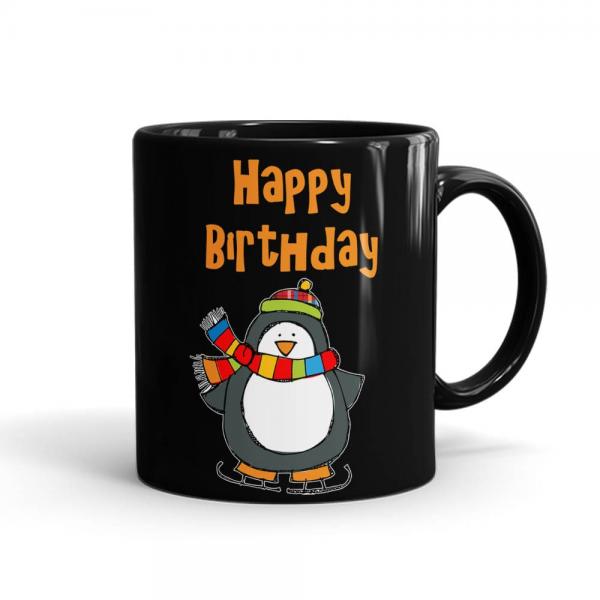 Happy Birthday Winters Mug Black - SendFlowers.pk