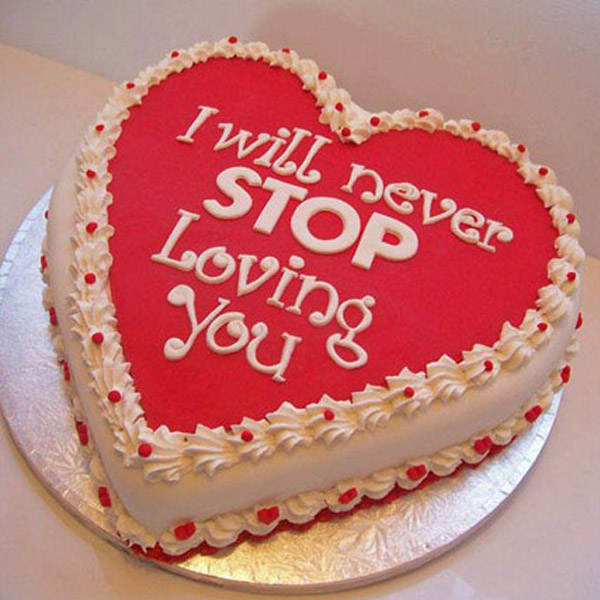 Reddish Heart Cake - SendFlowers.pk