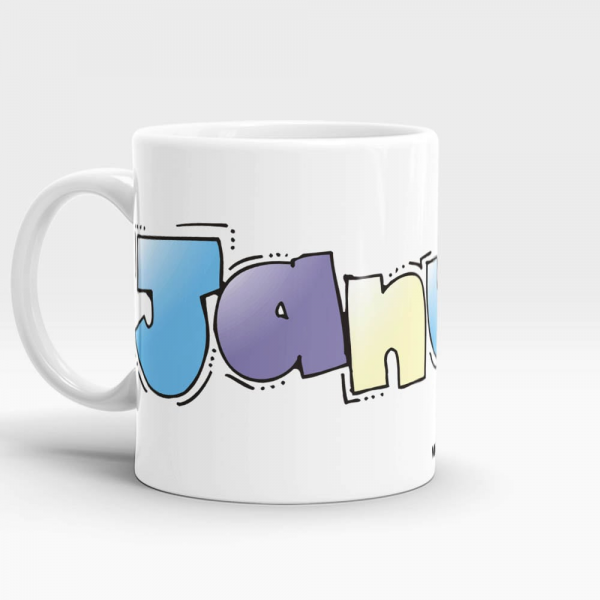 January Mug White - SendFlowers.pk