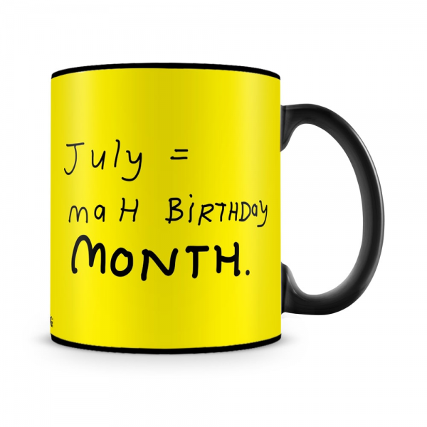 July Equals To Birthday Mug Black - SendFlowers.pk