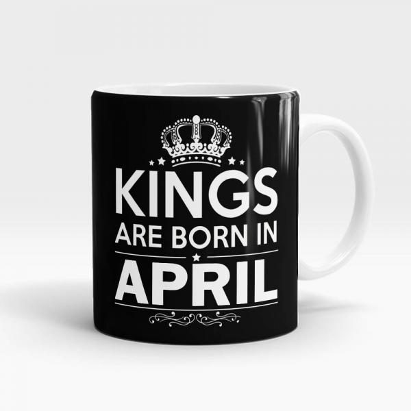 Kings Born In April Mug White - SendFlowers.pk