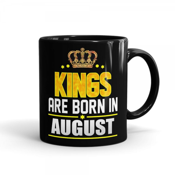 Kings Born In August Mug Black - SendFlowers.pk
