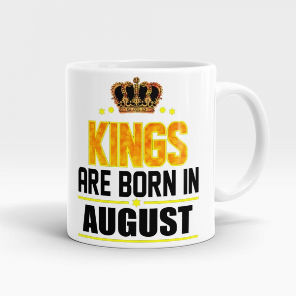 Kings Born In August Mug White - SendFlowers.pk