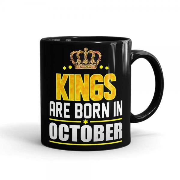Kings Born In October Mug Black - SendFlowers.pk