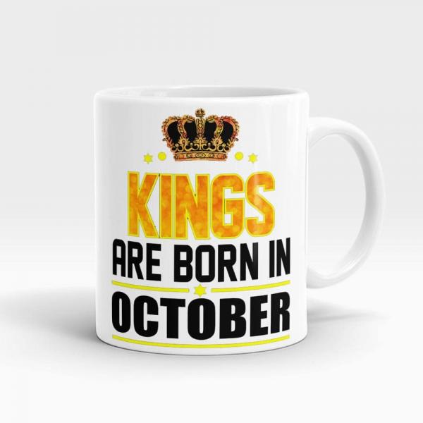 Kings Born In October Mug White - SendFlowers.pk