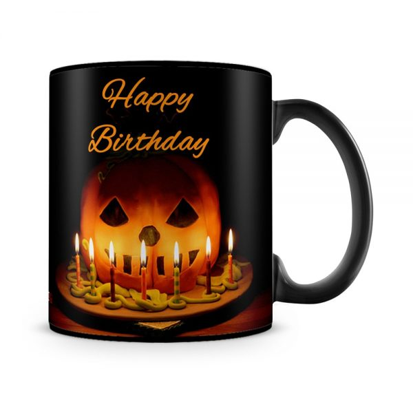 October Birthday Halloween Mug Black - SendFlowers.pk