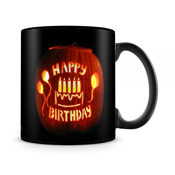 October Birthday Halloween Theme Mug Black - SendFlowers.pk