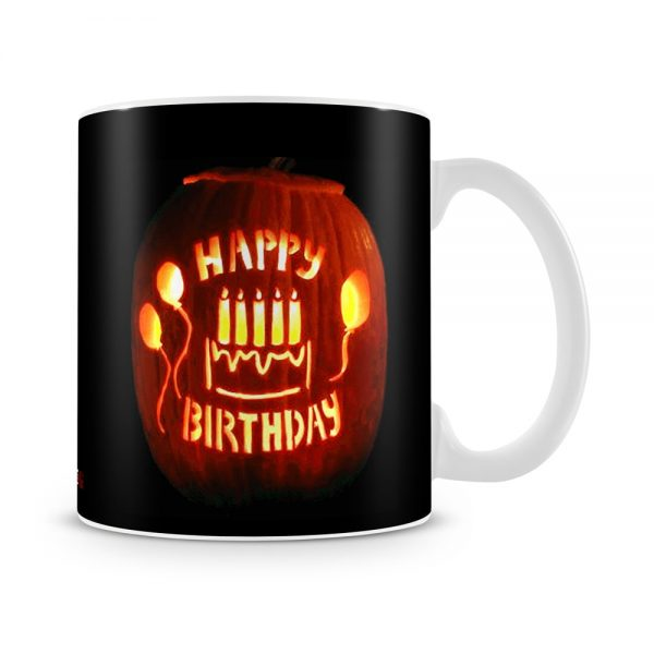 October Birthday Halloween Theme Mug White - SendFlowers.pk