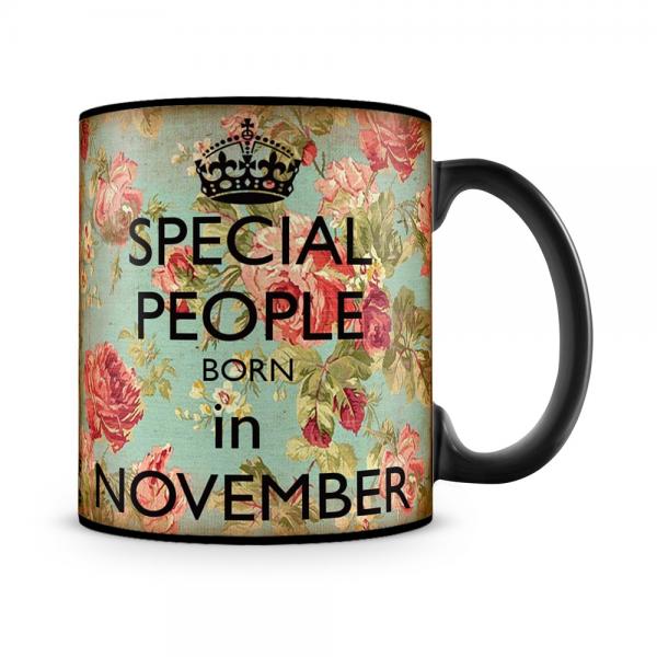 Special People Born In November Mug Black - SendFlowers.pk