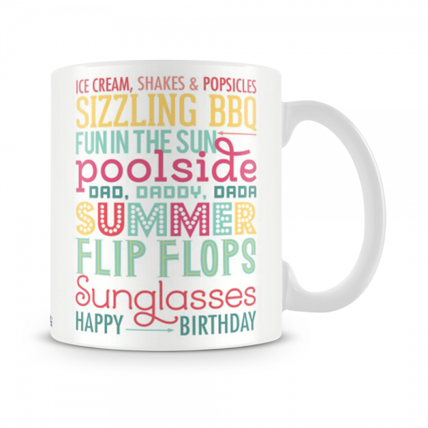Summer Birthday Mug White - SendFlowers.pk