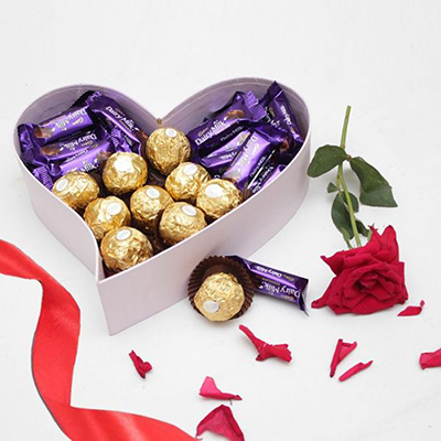 Heart of Chocolates Box - SendFlowers.pk