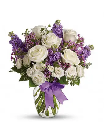 Delight White Roses - SendFlowers.pk